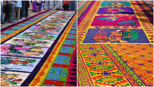 Semana santa bellezas latinoamericanas antigua guatemala for Alfombras pena
